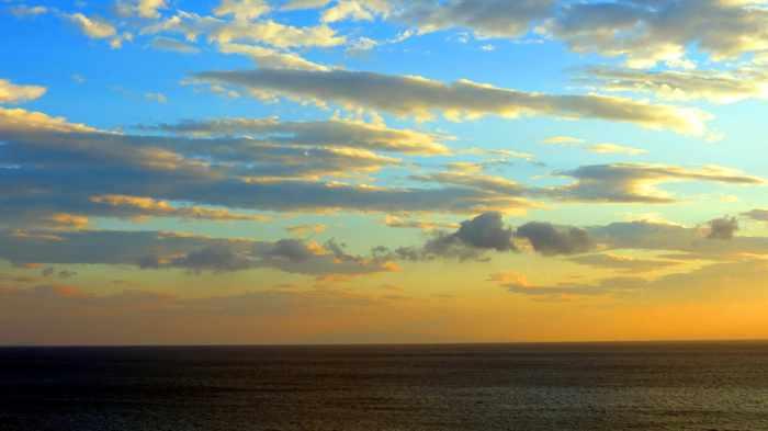 Aneroussa Beach Hotel sunset view