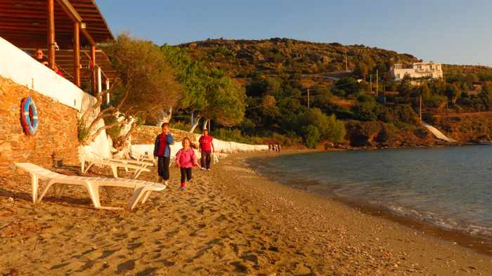 Agia Marina beach on Andros