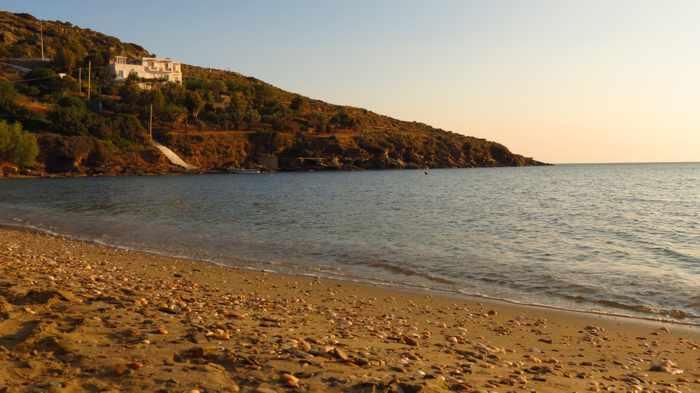 Agia Marina beach on Andros