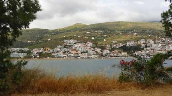Batsi village and bay on Andros