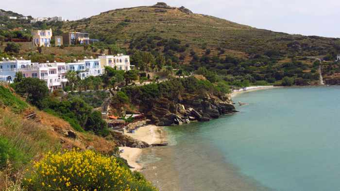 Delavoyia beach and Agia Marina beach