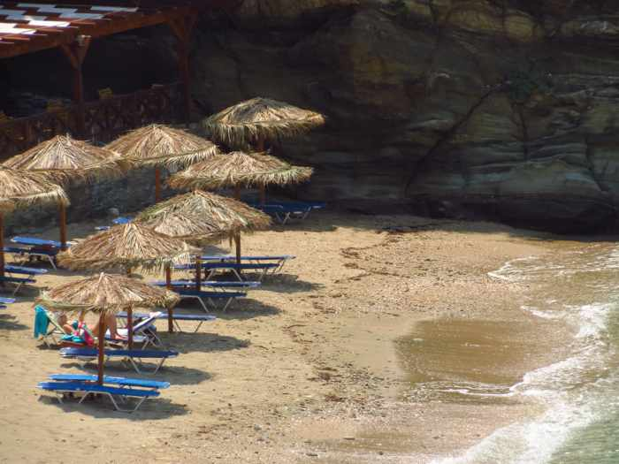 Delavoyia beach on Andros