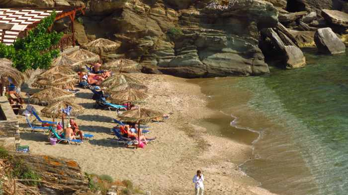 Delavoyia beach on Andros island