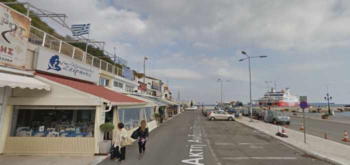 Google Street View image of Seirines restaurant at Rafina Greece