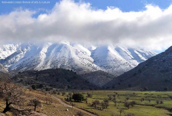 Dikti mountain range in East Crete