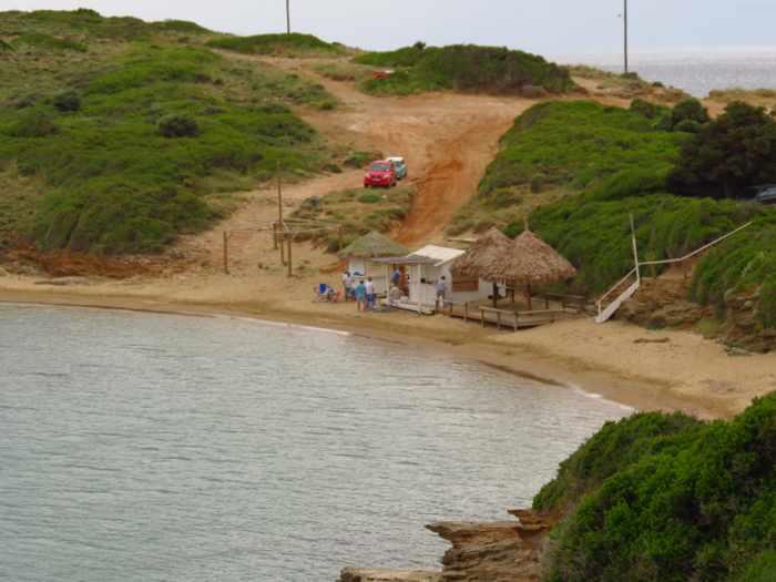 Kolona beach on Batsi