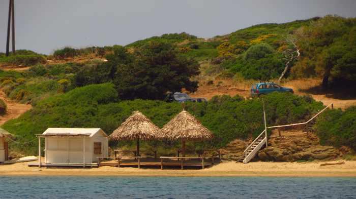 Kolona beach at Batsi