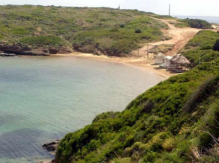 Kolona beach on Andros