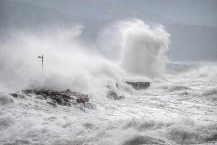 waves at Pythagorio on Samos