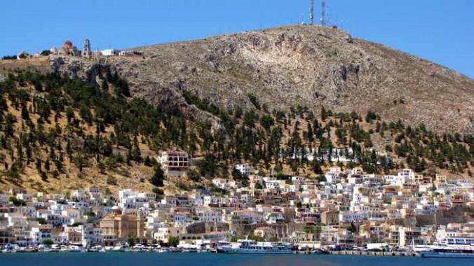 Pothia the main port of Kalymnos island