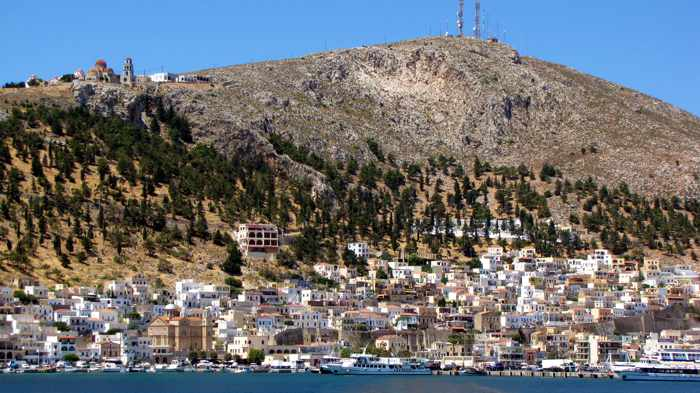 Pothia the main port of Kalymnos island
