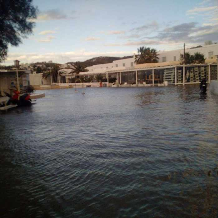 Sikiniotis Lefteris photo of flooded road at Ornos Mykonos 02