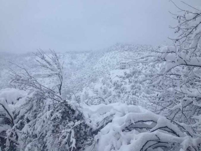 Snow on Skiathos photo by Giorgos Diolettas