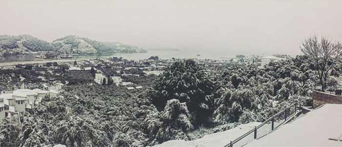 Snow on Skiathos photo shared on Facebook by Stathis Stefanidis