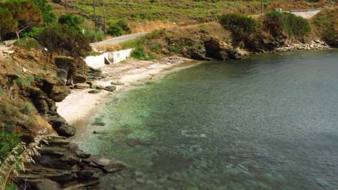 Stivari beach on Andros