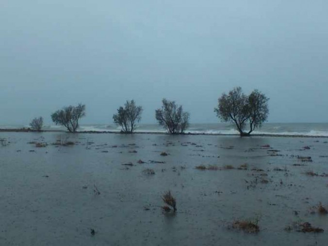 flooded area at Potokaki on Samos
