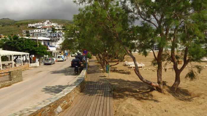 boardwalk on Batsi beach