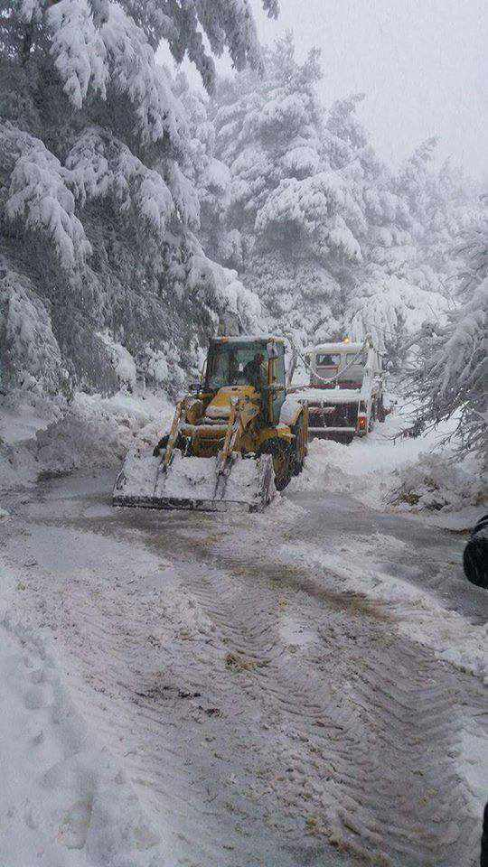snowplows on Skiathos photo shared on Facebook by Skiathos Life