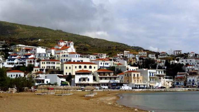 Batsi beach on Andros