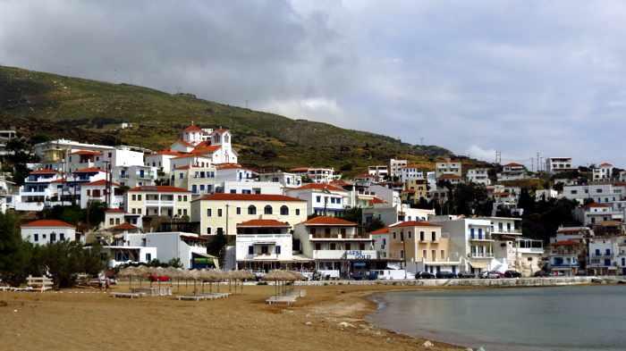 Batsi beach on Andros