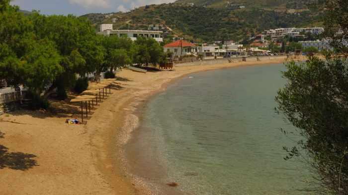 the beach at Batsi village
