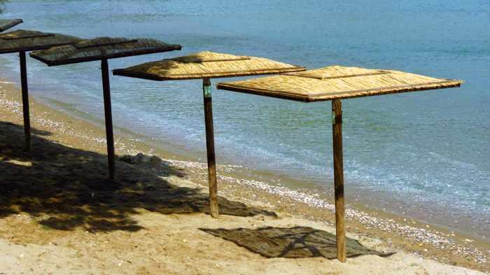 umbrellas on Batsi beach