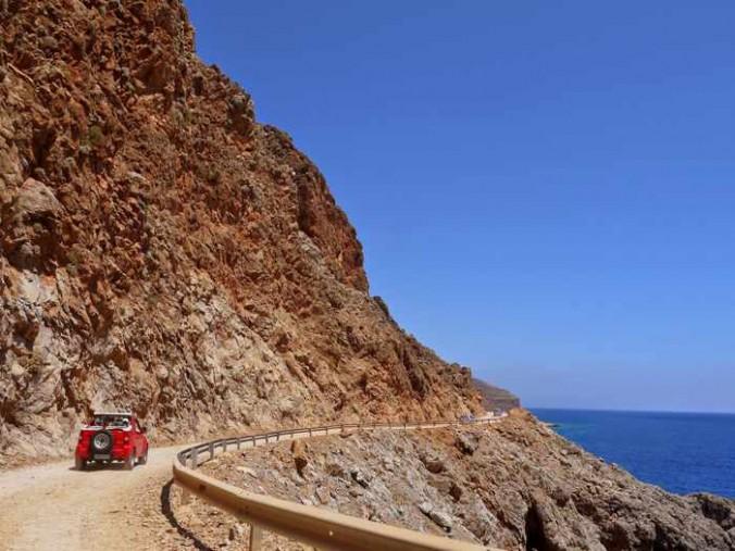 Balos beach road photo from morningkawa blog