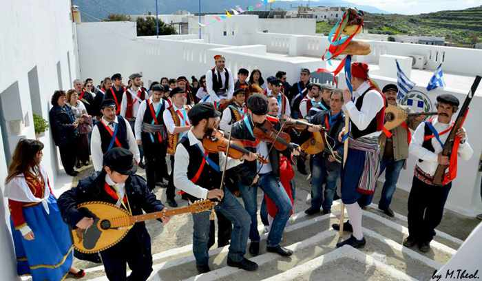 Kapetanios Carnival celebration on Amorgos