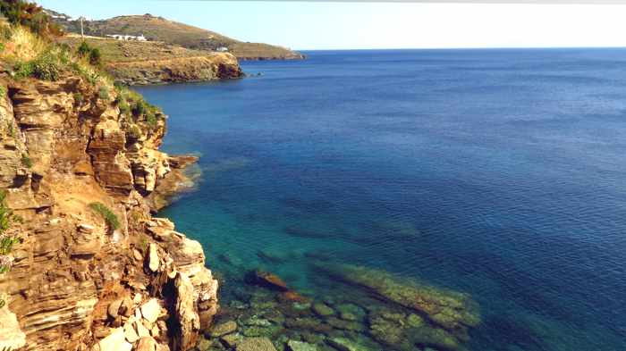 Andros coast at Stivari