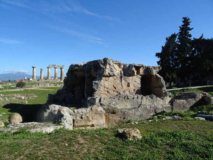 Apollo Temple at Ancient Corinth