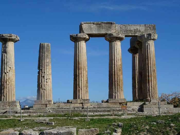 Apollo Temple at Ancient Corinth