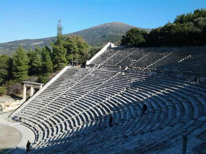 Epidavros theater photo by Christopher Butterworth
