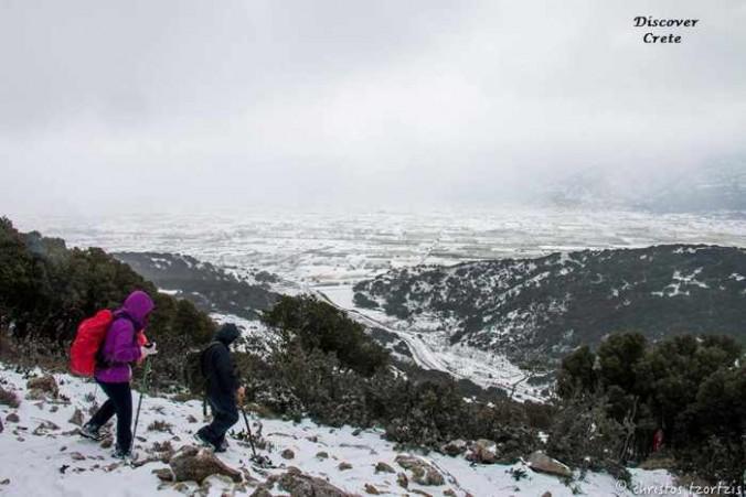 Christos Tzortzis photo of hikers on the Lasithi Plateau Crete