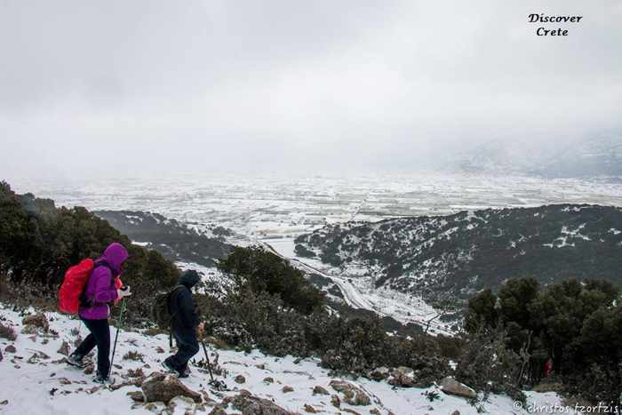 Christos Tzortzis photo of hikers on the Lasithi Plateau Crete