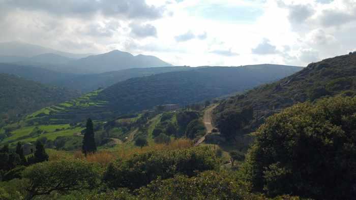 Lianos Village hotel of hillsides near Agia Mamas church Naxos