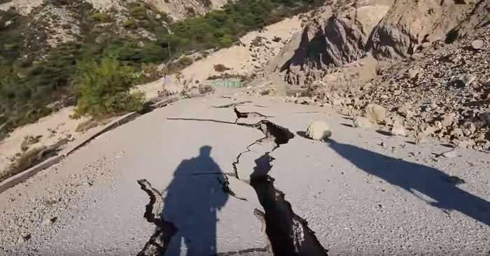 Damage to Gialos beach Lefkada