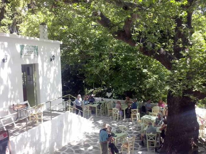 Drosia restaurant terrace in Menites
