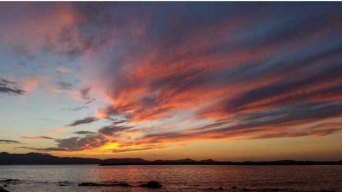 February 1 2016 sunset on Naxos