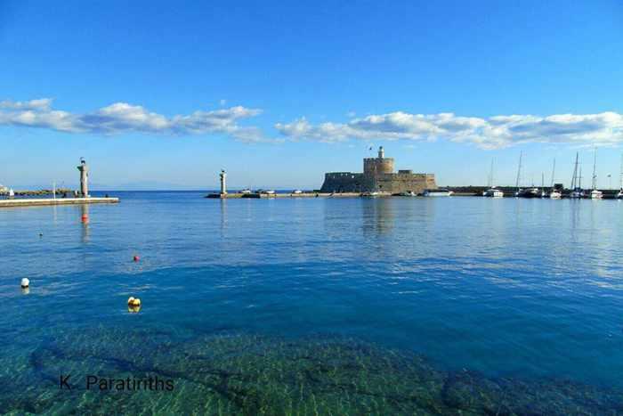 Mandraki harbour of Rhodes Town