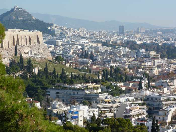 Filopappos Hill view of Athens