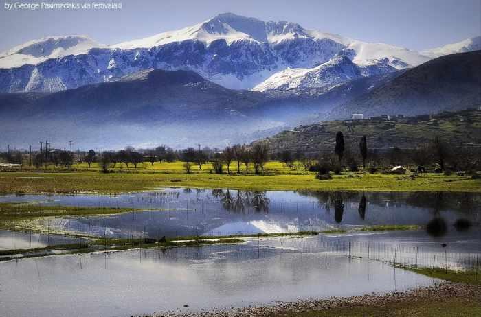 George Paximadakis photo of the Lasithi plateau in the heart of the Dikti mountain range of Crete