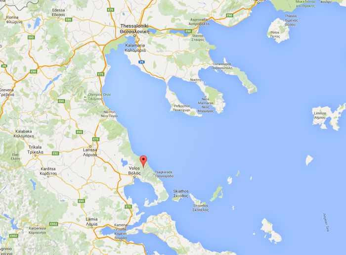 Mount Pelion location in Thessaly region of Greece