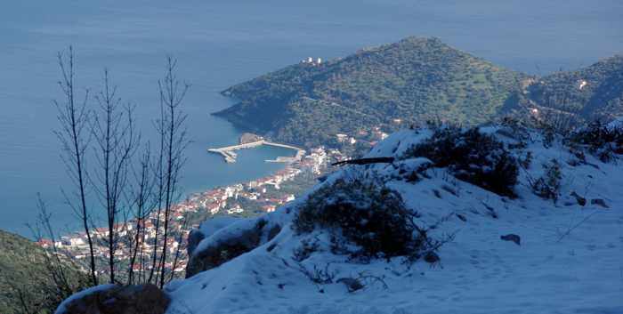 Tyros village viewed on a Greece on Foot tour