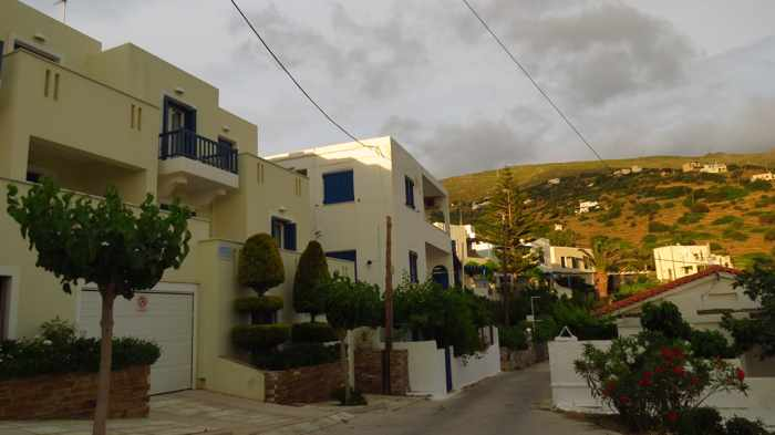 Stivari apartment buildings at sunset