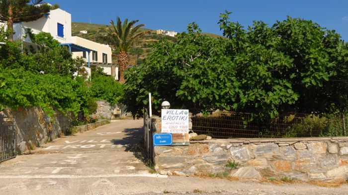 entrance to Villa Erotiki at Stivari Andros