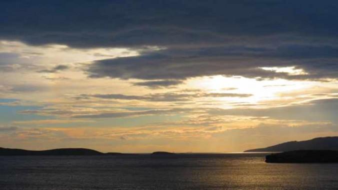 sunset view from Stivari Andros