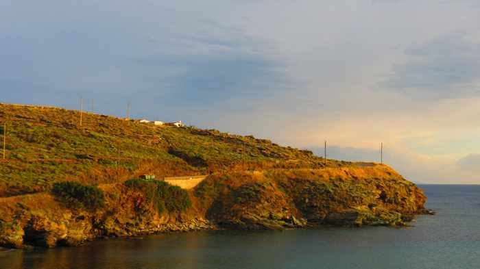 headland between Stivari and Delavoyia beach Andros