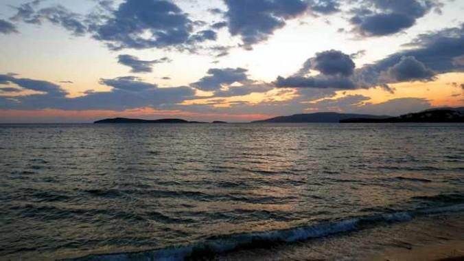 view from Agia Marina Taverna Andros