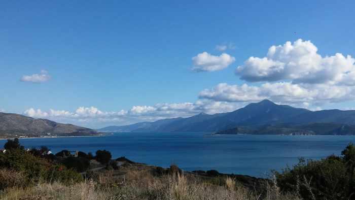 Mount Mykale and Samos Strait photo by Vaso Kazmatzi