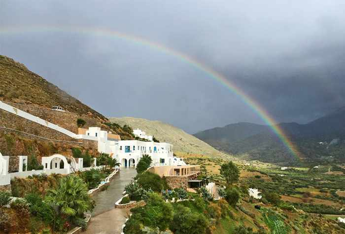 Winter rainbow on Amorgos
